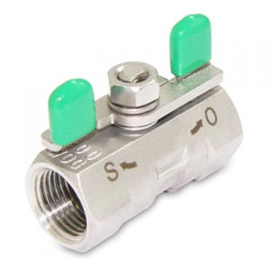 1PC THREADED BALL VALVE WITH BUTTERFLY HANDLE