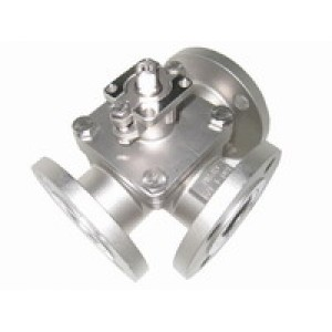 3WAY STAINLESS STEEL FLANGED BALL VALVE